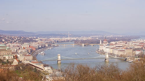 A view of Budapest and the Danube River. (Photo by Samantha Gauvain)