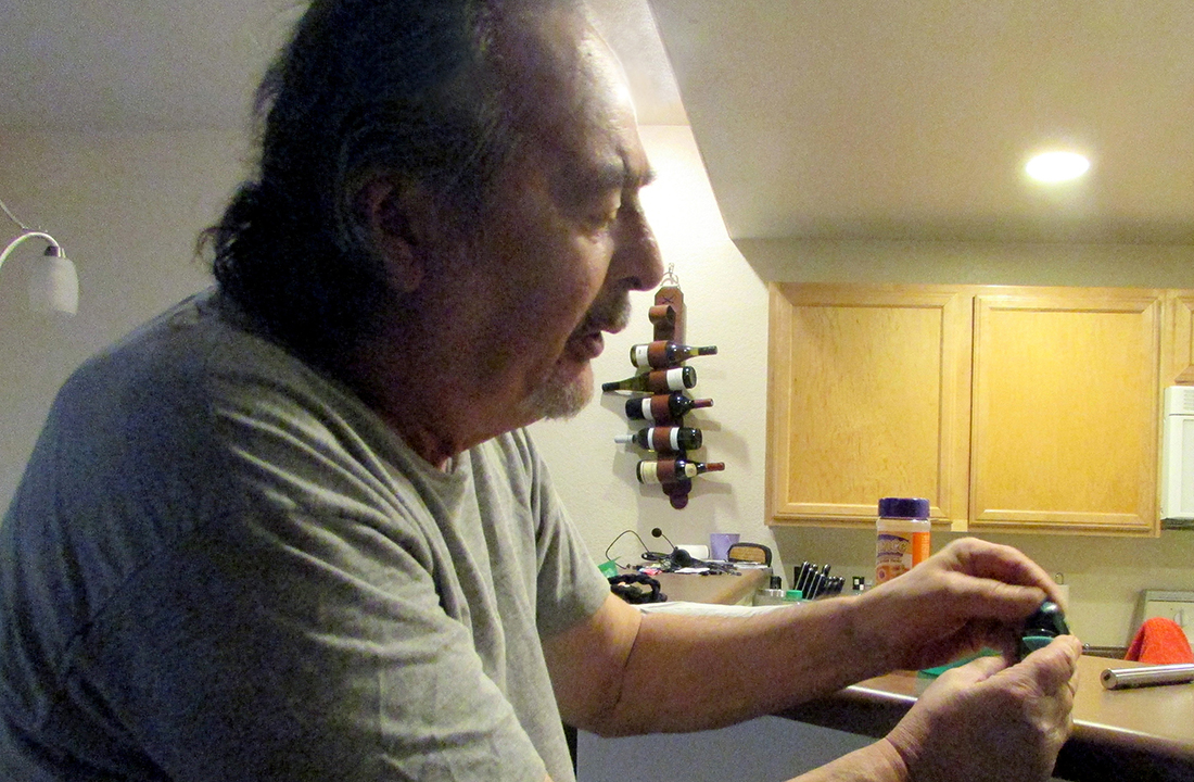 Phoenix resident Eric Johnson, who suffers from chronic pain, uses medical marijuana in the form of edibles and vaping to manage his pain. (Photo by Jenny Ung/Cronkite News)