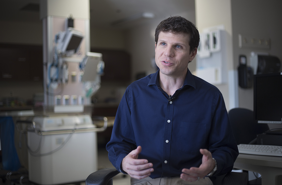 "Dr. Nathan Lepp, a Phoenix neonatologist at Maricopa Integrated Health System, said newborns with Neonatal Abstinence Syndrome are ""emotionally challenging for a lot of the caregivers."" (Photo by Johanna Huckeba/Cronkite News)"