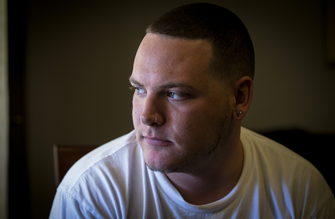 Joey Romeo, 25, said it's easy for him to find drugs – no matter where he lives. (Photo by Ryan Dent/Cronkite News)