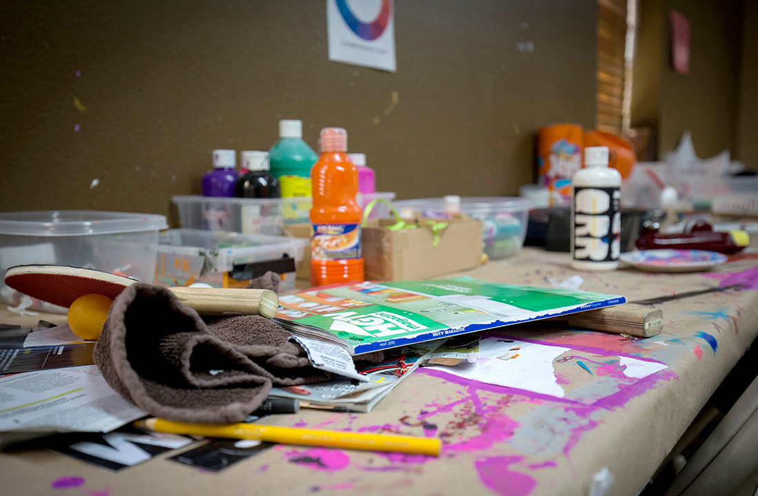 Valley Hope of Chandler sees arts and crafts as an important outlet for those recovering from addiction. (Photo by Ryan Dent/Cronkite News)