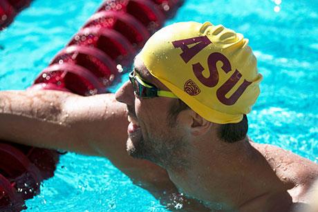 Michael Phelps has been training in Arizona to prepare for the Olympics. (Photo by Blake Benard/Cronkite News)