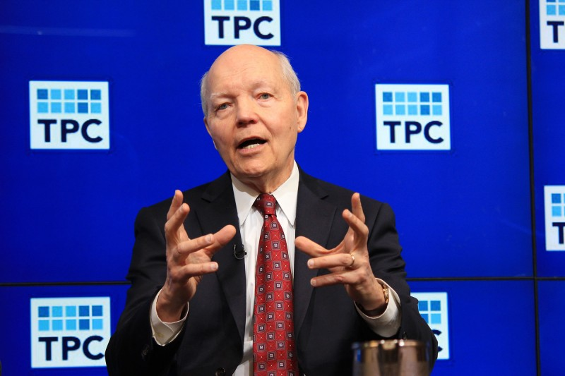 """IRS Commissioner John Koskinen said """"underfunding of the agency is the most critical challenge facing the IRS today,"""" affecting its ability to respond to taxpayers and to collect taxes. Photo by Jessica Boehm"""