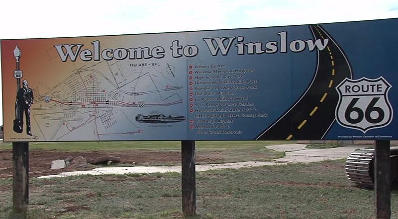 Winslow, Arizona, sign