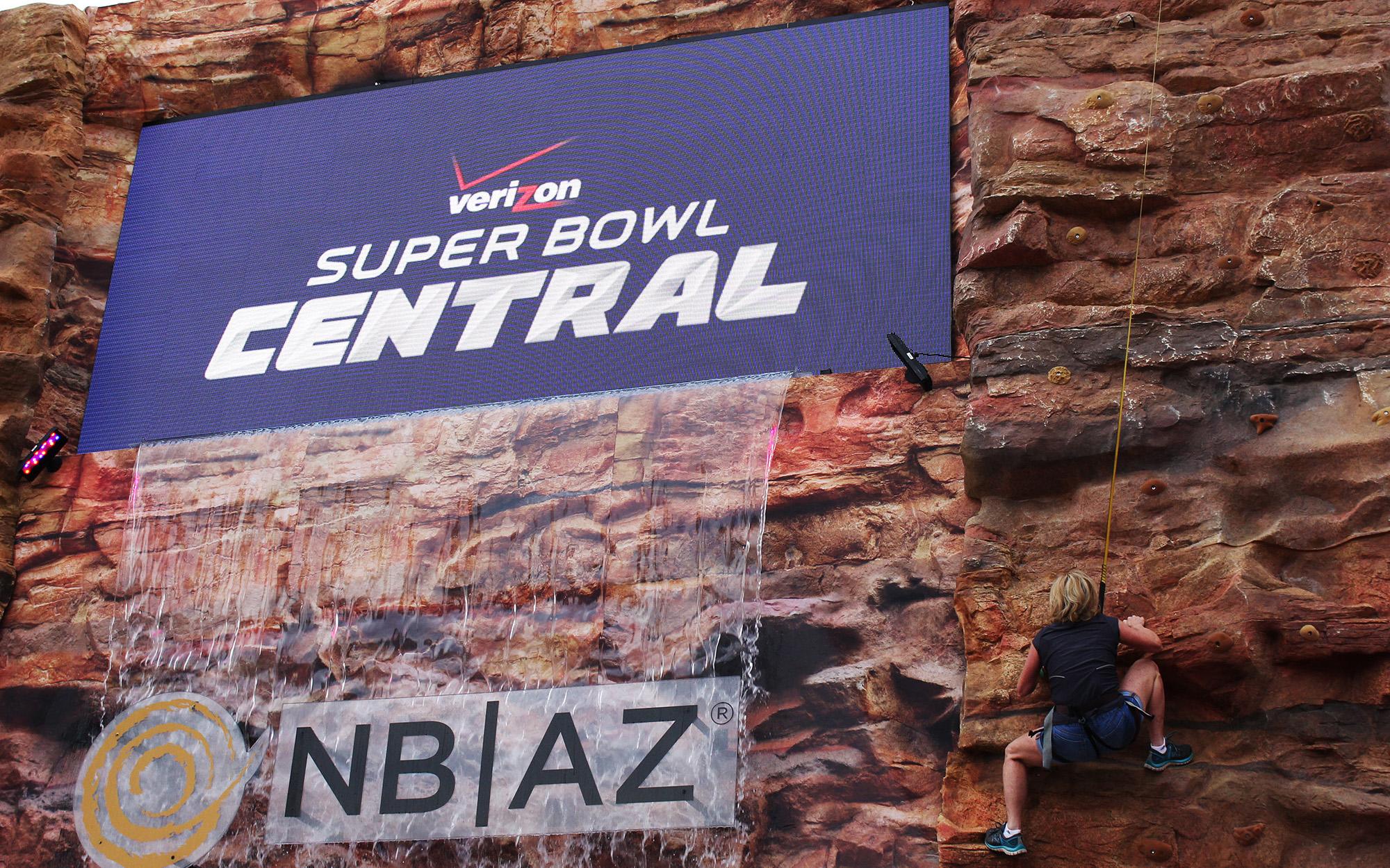 Super Bowl wall photo