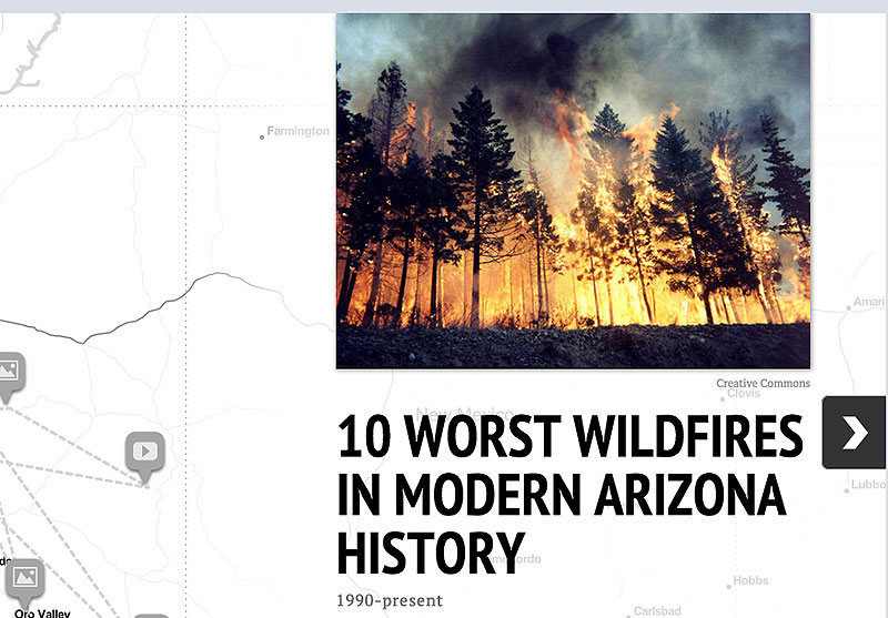 Wildfires screengrab