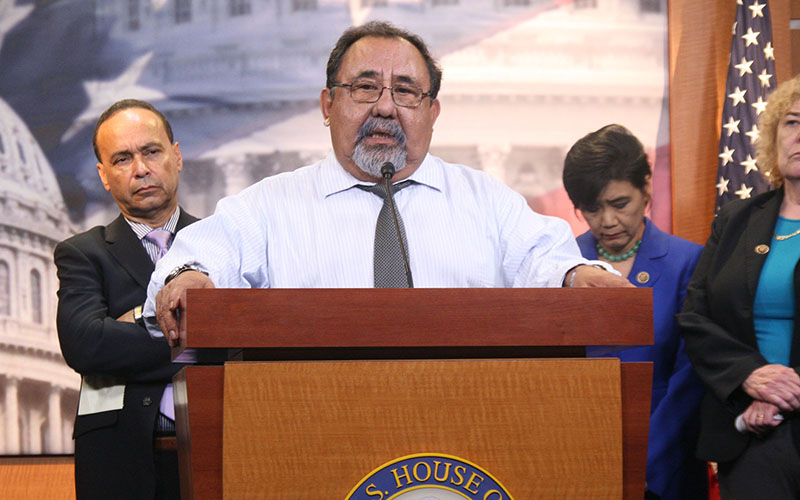 Rep. Raul Grijalva, D-Tucson, backed by other Democrats who think the White House's plans for a Pacific free-trade agreement will harm U.S. workers and the economy.