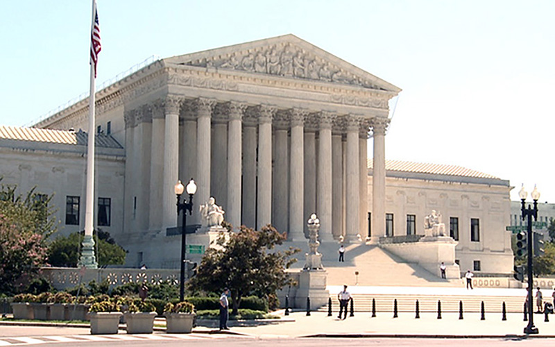 Supreme Court facade wide