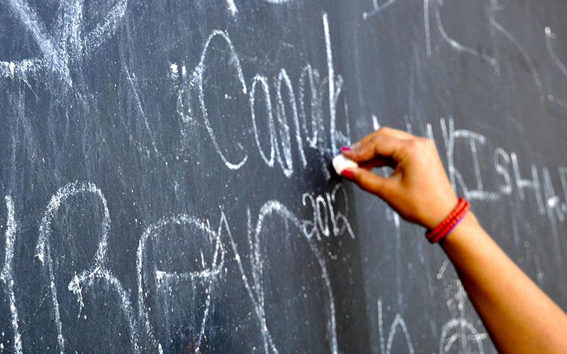school spending blackboard