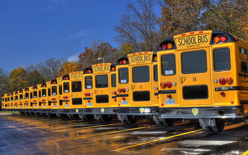 school spending buses