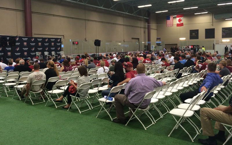 Coyotes town hall meeting photo