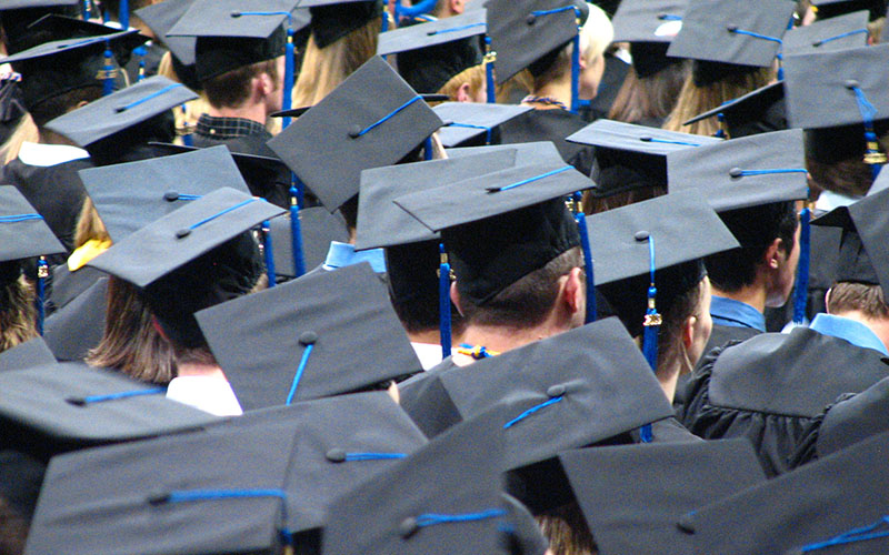 Arizona tied Alaska for lowest graduation rates in 2013, when just 29 percent of students were able to earn a four-year degree within six years of starting. (Photo by JECO Photo via flickr/Creative Commons)