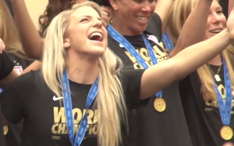 Julie Johnston played every minute of the FIFA Women's World Cup for the gold medal-winning United States. (Brett Holzhauer/Cronkite News)