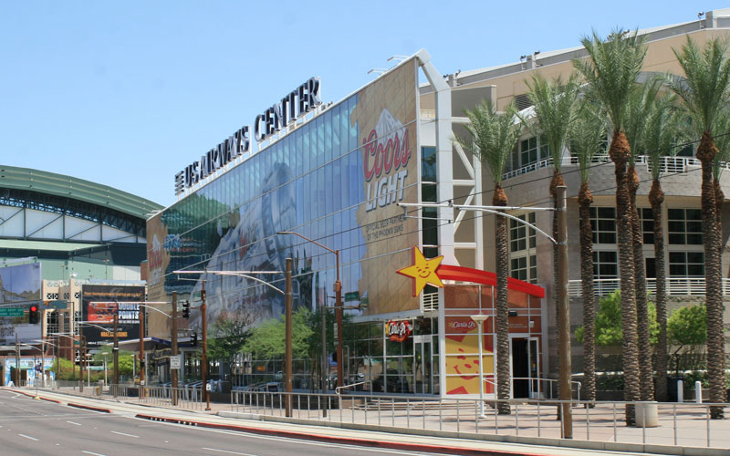 From 1996-2003, the Suns and Coyotes shared US Airways Center. If the Coyotes' legal battle with Glendale sends them out of Gila River Arena, they could end up back where they started. (Cronkite News photo by Michael Nowels)