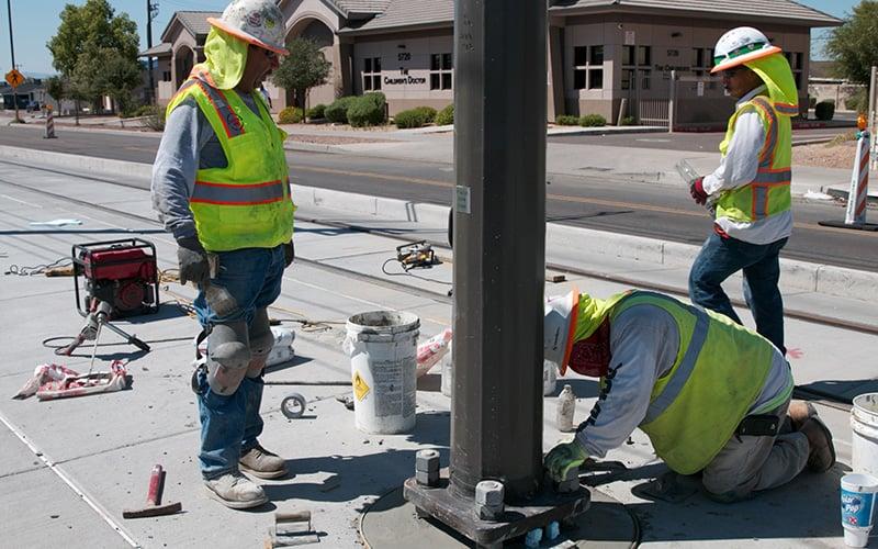 Light rail construction photo