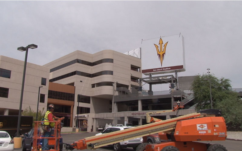 Sun Devil Stadium Construction