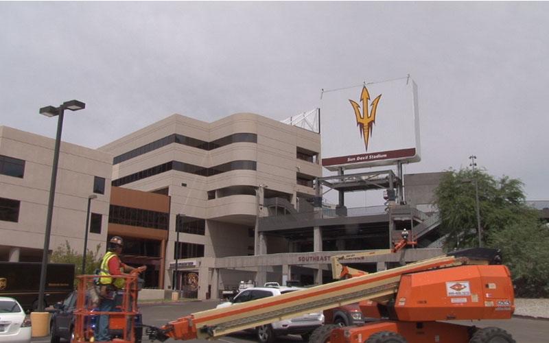Sun Devil Stadium Construction