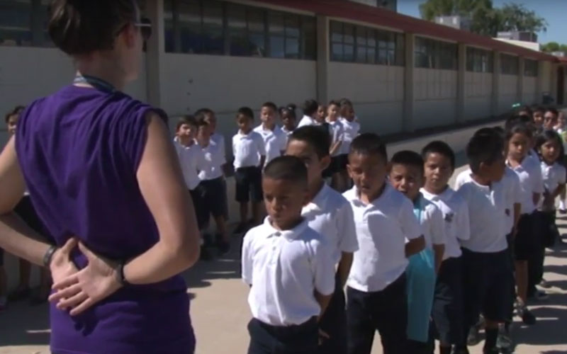 Since Playworks came to Arizona in 2005 they have been integrated into 28 different schools and, according to the organization, these schools have seen bullying reduced by 43 percent. (Photo by Cronkite News)