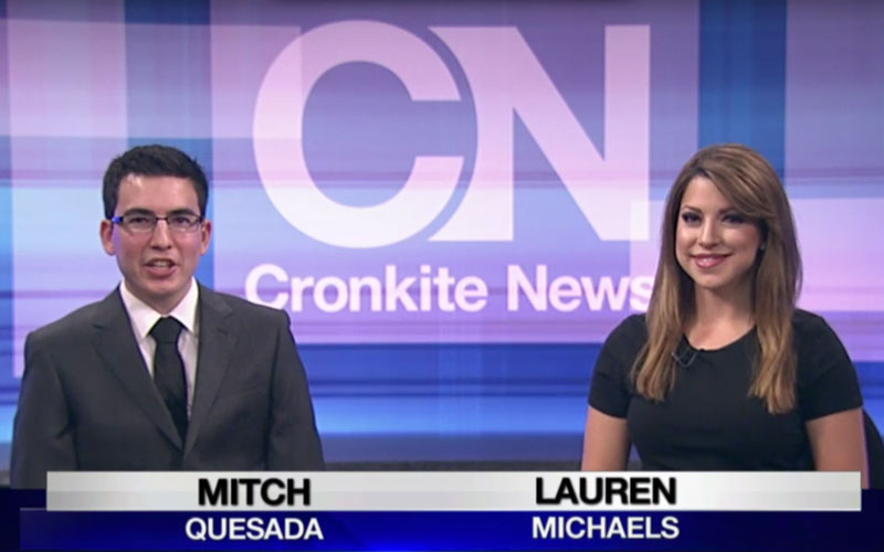 Cronkite newscast photo