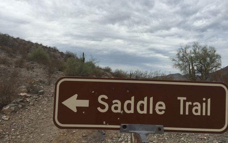 Saddle Trail sign