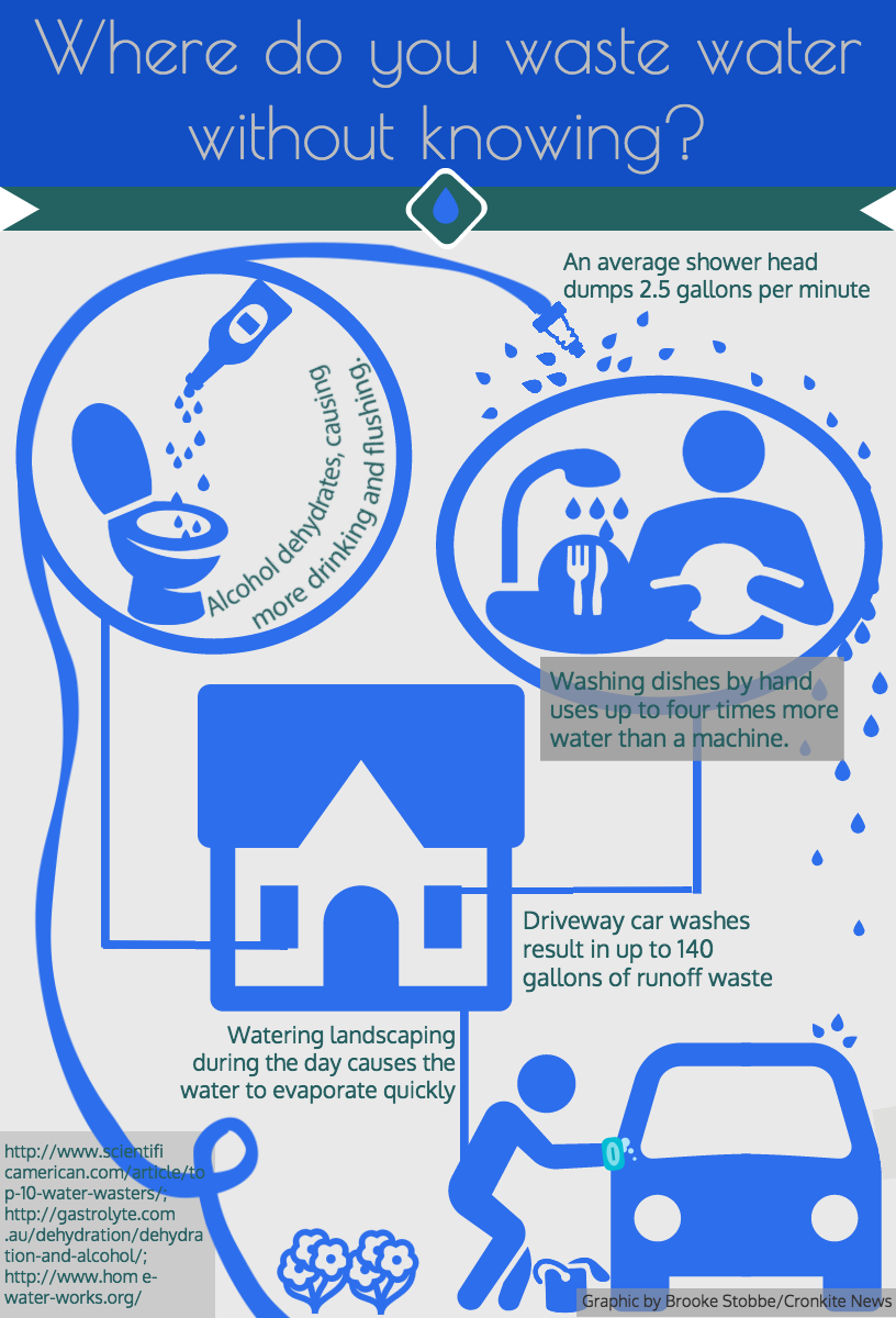 Water conservation infographic.