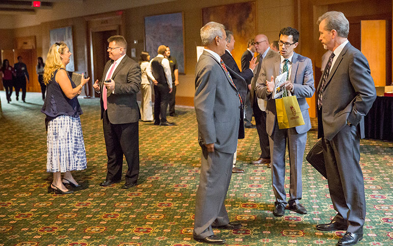 The Morrison Institute for Public Policy at Arizona State University hosted the North America Economic Connectivity Conference on Sept. 30 at the Phoenix Airport Marriott. (Photo by Carla León/Cronkite News)