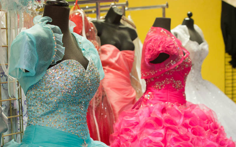 Bridals by Ofelia in Phoenix offers a variety of quinceanera and bridal dresses. (Photo by Brooke Stobbe/Cronkite News)