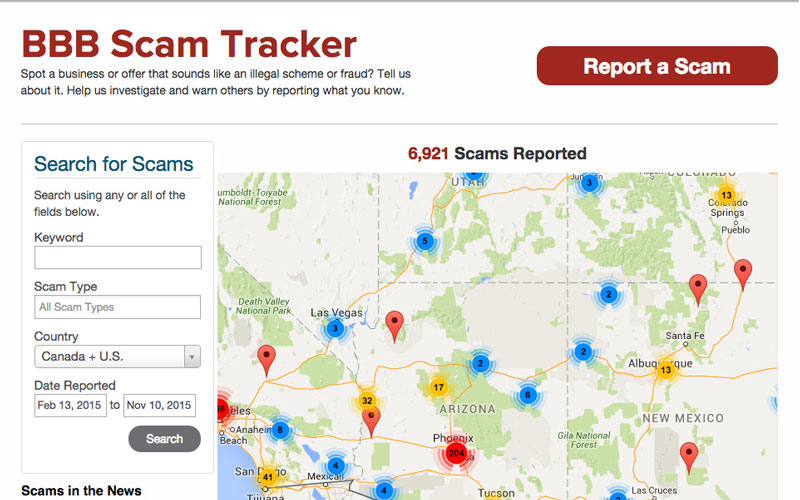 The Better Business Bureau says its latest tool, the Scam Tracker, helps people spot scams across the state. (Photo by Jacqueline Padilla/Cronkite News)
