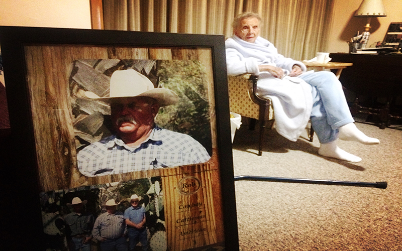 Photographs of rancher Robert Krentz at his home. Krentz was gunned down on his property 25 miles from the Arizona-Mexico border five years ago and his murder remains unsolved.  (Photo by Fan Wang/Cronkite News)