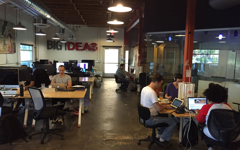 Co+Hoots was ranked second in Symmetry 50's 2015 list of the top co-working spaces in the U.S. (Photo by Jason Axelrod/Cronkite News)