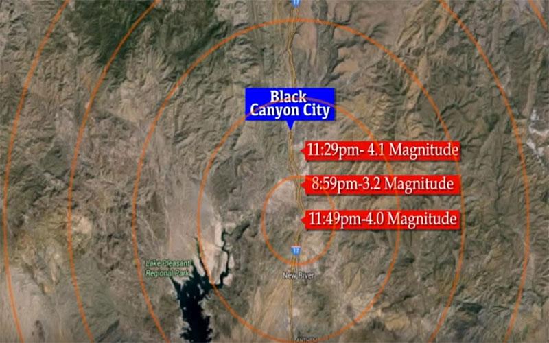 Seismic activity near Black Rock City.