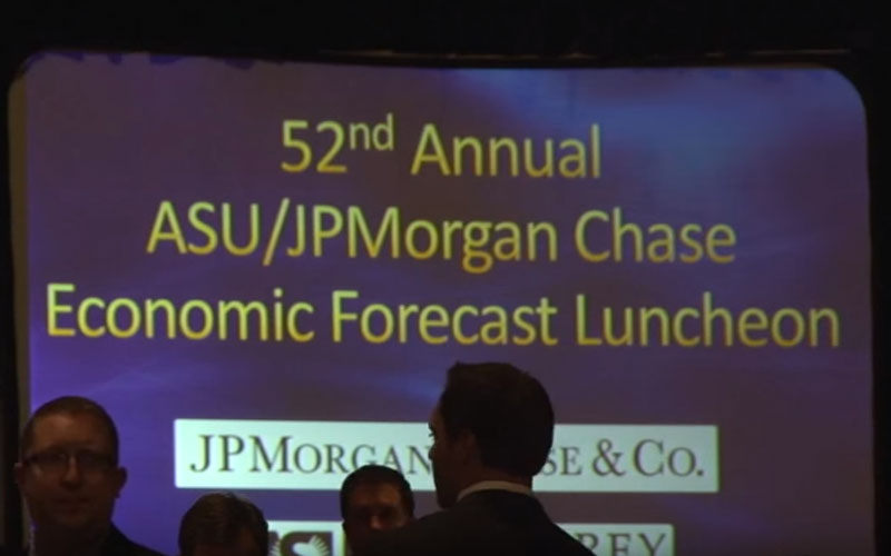 52nd annual JPMorgan Chase/ASU economic forecast luncheon. (Photo by Yahaira Jacquez/Cronkite News)