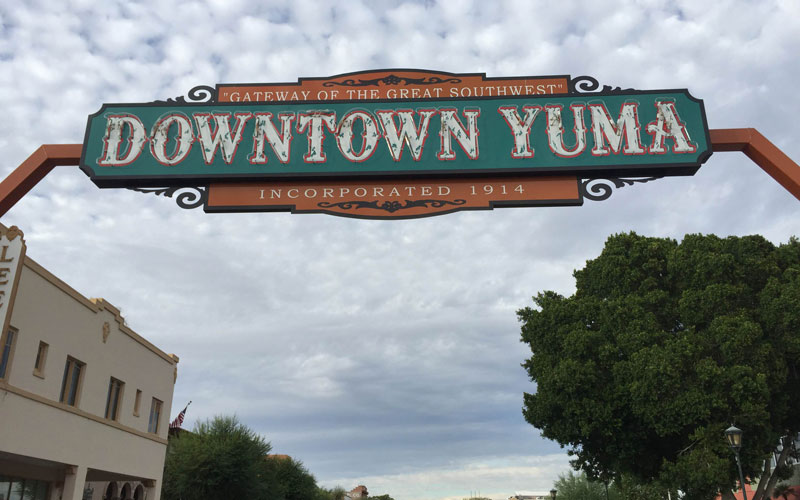 Yuma town sign photo