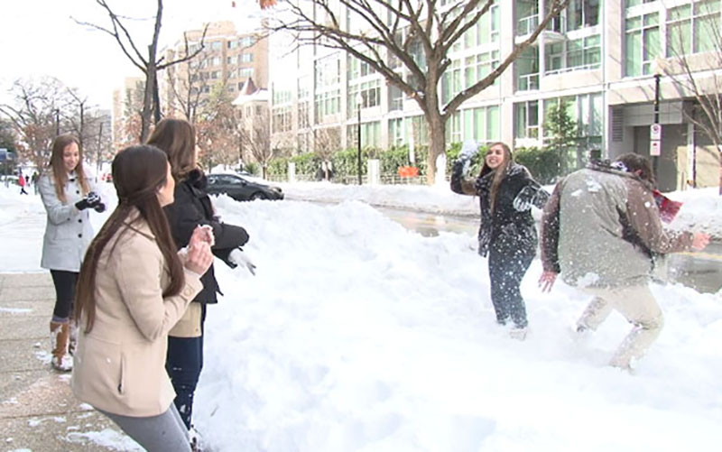 Post Snow No Go Arizonans Stranded By Blizzard Cope With