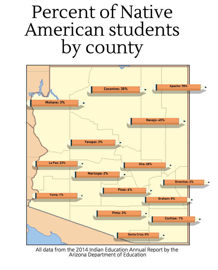 Native American students graphic