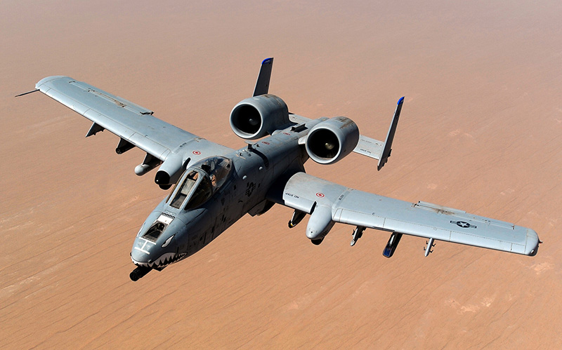 An A-10 Thunderbolt II from the 74th Fighter Squadron at Moody Air Force Base in Georgia flies over Afghanistan in this 2011 photo.