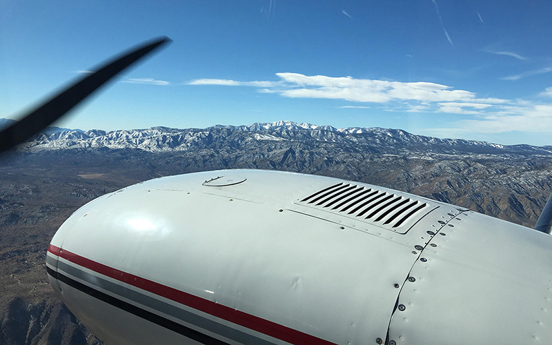 Dennis Phelan flies between Southern California and Arizona to take George Yslas back to Goodyear for treatment. (Photo by Chloe Nordquist/Cronkite News)