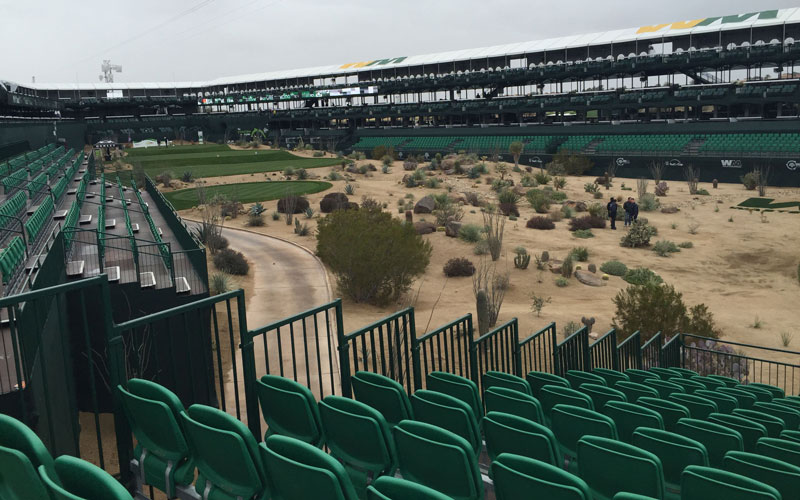 The Waste Management Phoenix Open in Scottsdale aims to be the largest zero-waste event worldwide. (Photo by Mallory Price/Cronkite News)