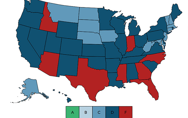 Map Of Arizona Only.Another Report Another F For Arizona Schools But U S Only Got A D