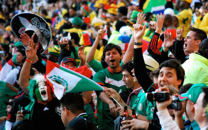 Mexico's fans at a game in Soccer City. (Photo courtesy of Celso FLORES/flickr)