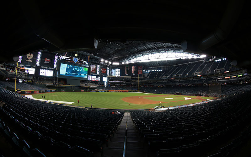 The interior of Chase Field is pictured Sunday Aug. 30, 2015 in Phoenix. Chase Field is home of the Arizona Diamondbacks. (Photo by Jacob Stanek/Cronkite News)