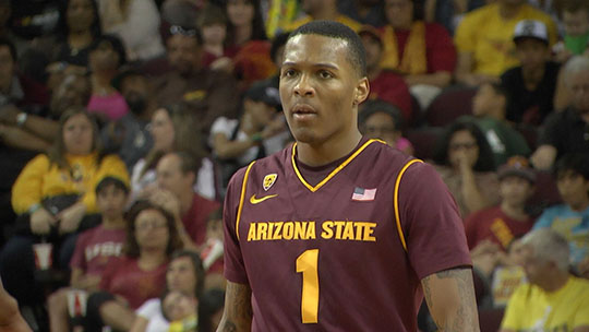 Former Sun Devil standout Jahii Carson played for Arizona State Univeristy from 2012 - 2014 and declared for the NBA Draft in 2014 but did not get drafted and is now playing overseas in Turkey. (Photo by sports360az.com)