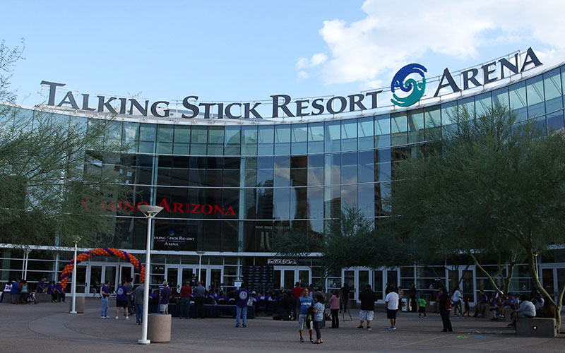 The NBA's Phoenix Suns play at Talking Stick Resort Arena, named for the casino property on the Salt River Pima-Maricopa Indian Community east of Phoenix. (Cronkite News file photo)