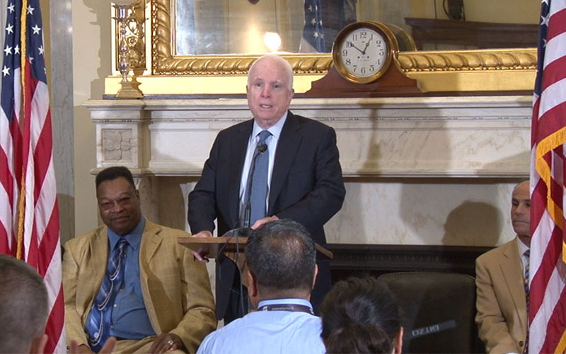 Sen. John McCain, R-Arizona, a boxing fan and former amateur boxer, said research into sports-related concussions is essential.
