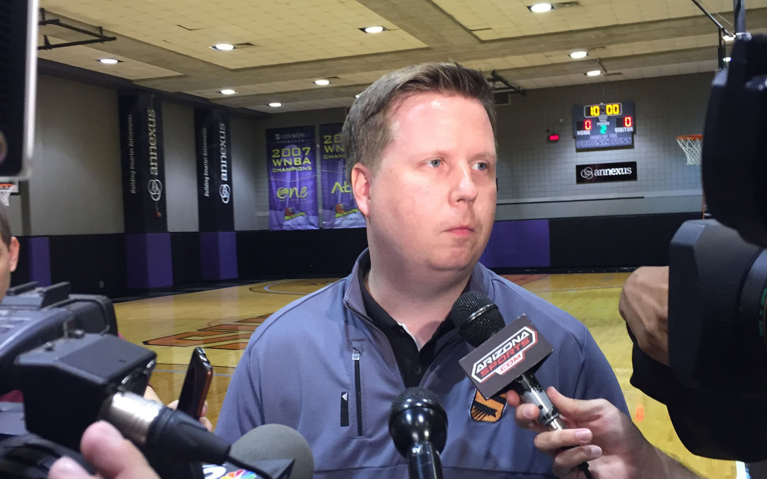 phoenix suns assistant general manager answers media questions