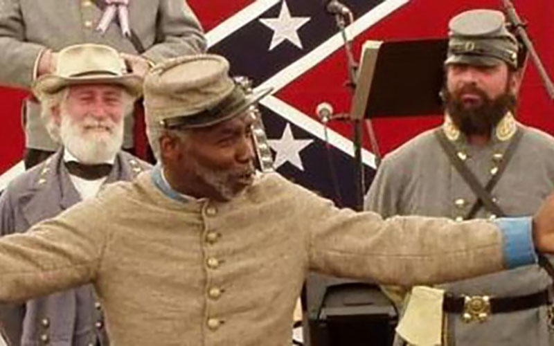 H.K. Edgerton speaks to members of the Sons of Confederate Veterans.