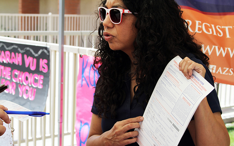 voting rights ambassador registering students to vote