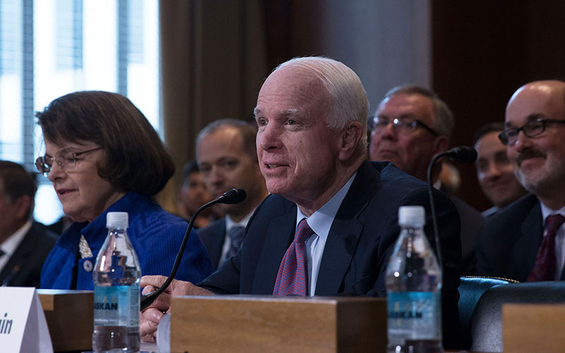 """Sen. John McCain, R-Arizona, called the drought that continues to plague Western states a """"critical, crucial issue"""" that requires """"immediate collaborative action"""" between the states."""