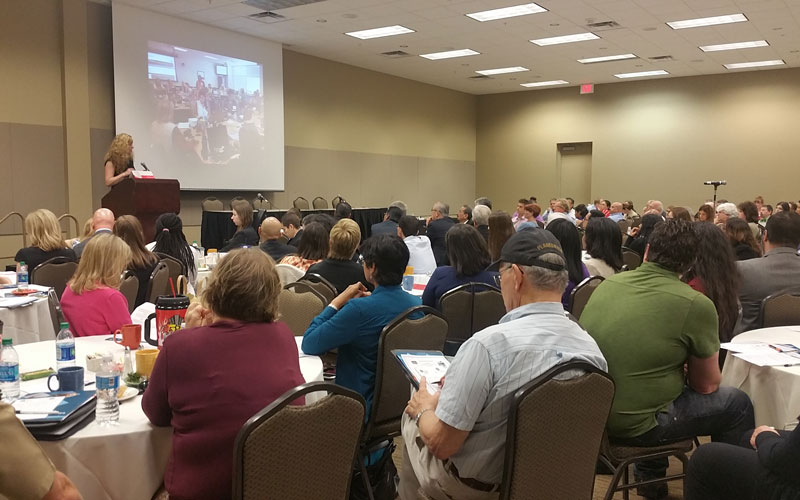 """Infectious diseases that happen in other parts of the world, can happen in the United States, can happen in Arizona and we need to be prepared,"" said Dr. Cara Christ, at the summit hosted by Arizona Department of Health Services.  (Photo by Socorro Carrillo/Cronkite News)"