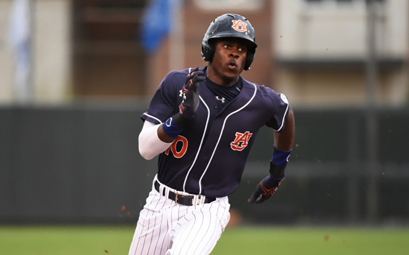 The Diamondbacks selected Anfernee Grier with the 39th pick in the 2016 MLB Draft. (Photo courtesy Auburn Athletics)